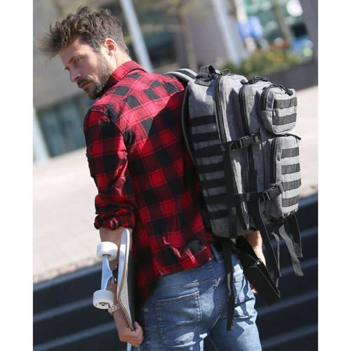 Brandit Tactical Backpack US Cooper Flanell 40L Graphite-Black