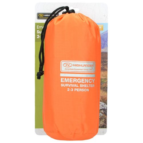 Highlander Emergency Tent 2-3 Persons Orange