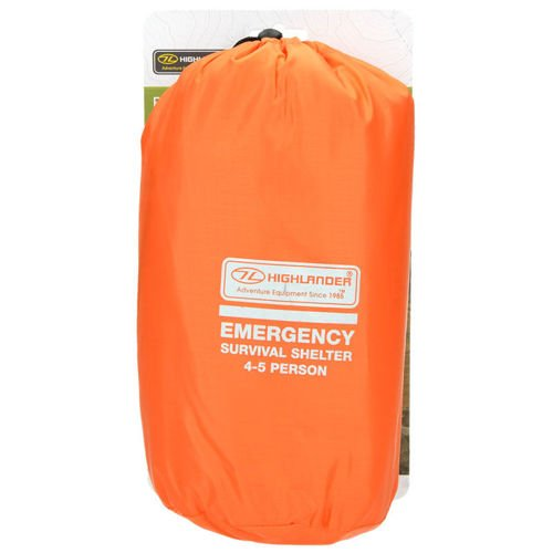 Highlander Emergency Tent 4-5 Persons Orange