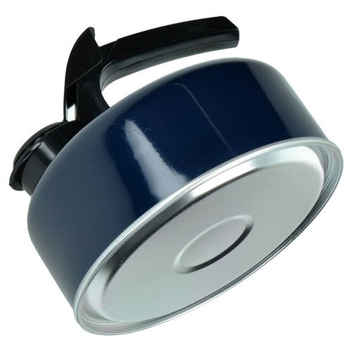 Highlander Enameled Kettle with a Whistle 1L Blue