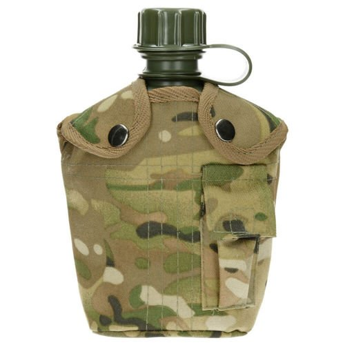MFH 1QT US Style ALICE Canteen with Cover Operation Camo