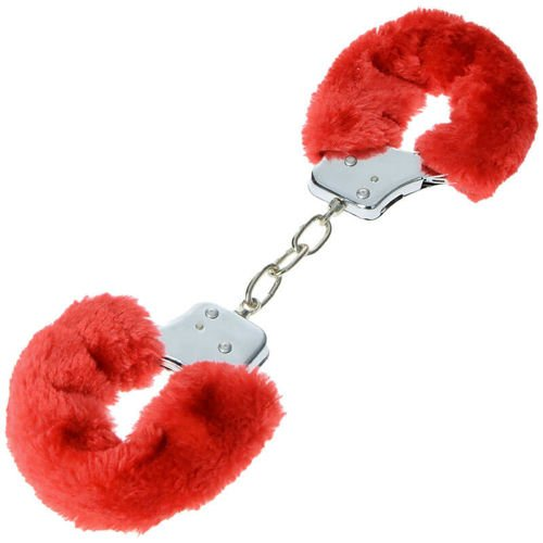 MFH Steel Chain Fluffy Handcuffs Silver