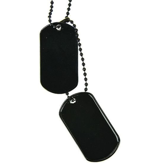MFH US Dog Tag Set Black 2pcs