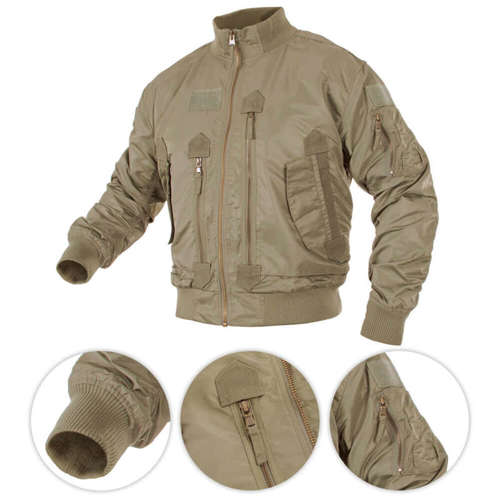 Mil-Tec Bomber Jacket US Tactical Flight Coyote
