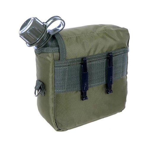Mil-Tec Canteen 2QT With Cover And Strap Olive