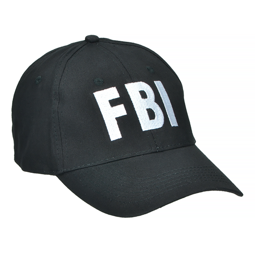 Mil-Tec FBI Baseball Cap Black