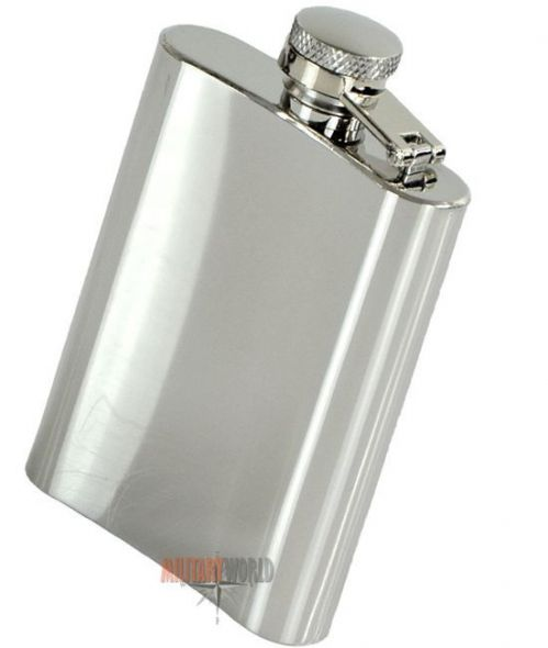 Mil-Tec Flask 4 Oz (110 ml) Silver