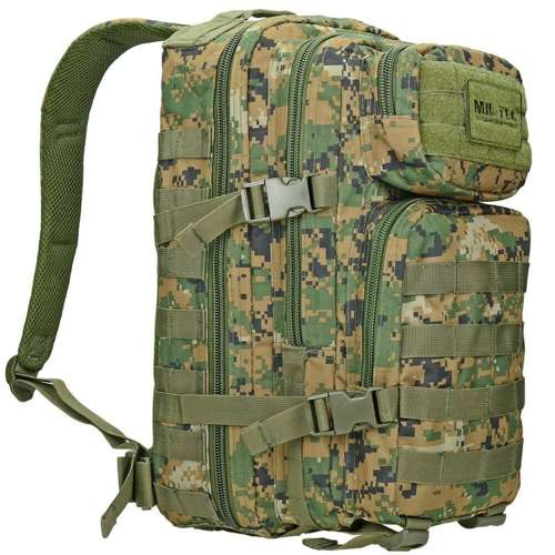 Mil-Tec MOLLE Tactical Backpack US Assault 20L Digital Woodland (Marpat)