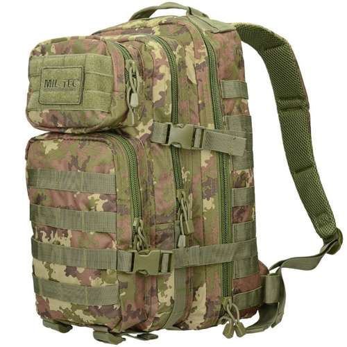 Mil-Tec MOLLE Tactical Backpack US Assault 20L Vegetato Woodland