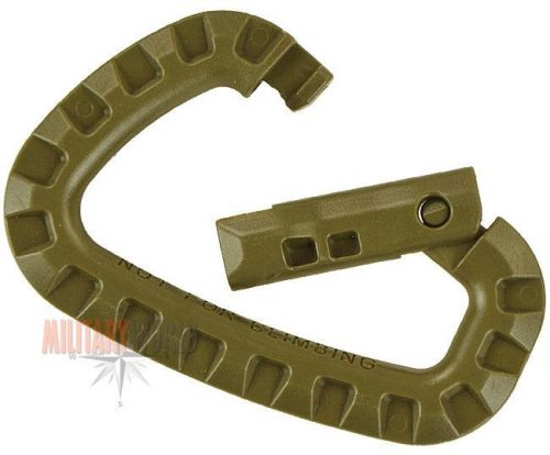 Mil-Tec Spring hooks ABS Set 2 Pieces Coyote