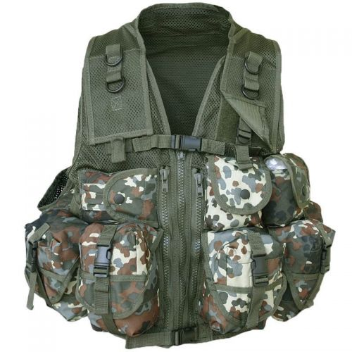 Mil-Tec Tactical Vest US 9 Pockets Flecktarn