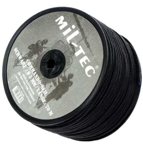 Mil-Tec Universal Rope Survival 5mm Black [by the meter]