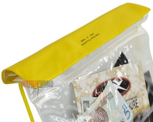 Mil-Tec Waterproof Neck Wallet Inflatable 250/320mm Yellow